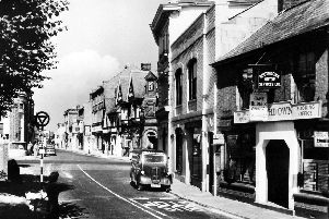 THEN: The Roman crossroads at Havant looking north in the 1950s. Picture: Ralph Cousins' collection.