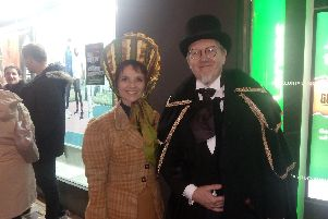 Mark and Dawn Easterbrook in Victorian costume.
