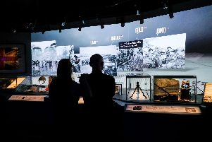 Inside the D-Day Story museum in Southsea, which will be offering free entry to National Lottery players this week in celebration of the game's 25th birthday. Picture: Matthew Scott-Joynt
