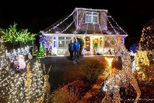 The King family are lighting up their Horsham home for Christmas to raise funds for the Make A Wish charity SUS-191126-150013001
