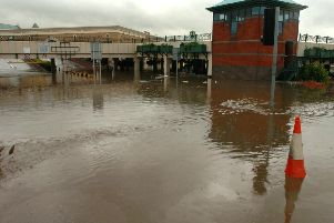 The aftermath of the recent floods which hit Sheffield.