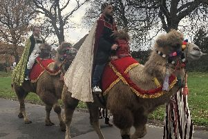 Camels lead procession through Leigh Park