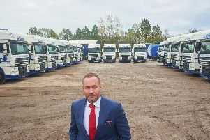 Andy Scott, orginally from Portsmouth, has bought Bison Transport - his 10th acquisition in two years