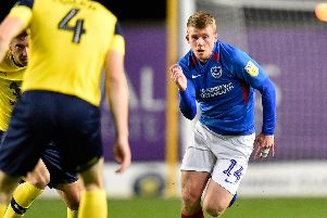 Andy Cannon will make a rare Pompey appearance in tonight's Leasing.com Trophy clash with Northampton. Picture: Graham Hunt