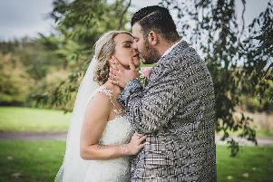 Kelly and Keiran on their wedding day. 'Pictures: Carla Mortimer Photography. 'carlamortimerweddingphotography.co.uk