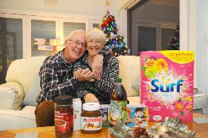 Lorraine Ham (66) and her husband Alan (67) from Drayton, got in touch with editor of The News, Portsmouth, Mark Waldron in 2017 to say they wanted to adopt a family for Christmas. Mark put them in contact with the Roberts Centre who let them anonymously adopt a family and they have done every year. They either send Christmas gifts or essentials that the family may need.''Picture: Sarah Standing (031219-2800)