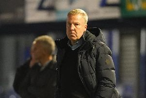 Kenny Jackett's Pompey side have progressed into the third round of the Leasing.com Trophy following victory over Northampton. Picture: Sean Ryan