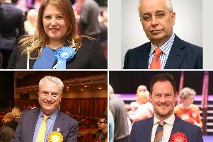 Portsmouth South candidates, clockwise from top left, Tory Donna Jones, the Brexit Party's John Kennedy, Labour's Stephen Morgan and Lib Dem Gerald Vernon-Jackson  Pictures: Habibur Rahman/PA/John Kennedy