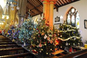 Creations at Alverstoke's Christmas Tree Festival at St Mary's from previous years. ''Picture by:  Malcolm Wells (171208-0636)