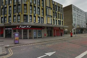 The stabbing happened close to the junction with Cumberland Street