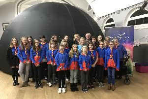 Alverstoke Girl Guides enjoyed a night of space exploration.