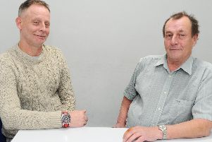 David Bayes,49,  left, and Graham Butterworth, 63, right, have both previously been convicted - but now say probation has turned their lives around. Picture: Sarah Standing (051219-2825)