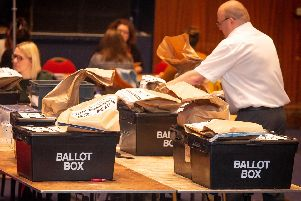 Election count at Portsmouth Guildhall. Picture: Habibur Rahman