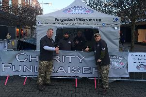 Forgotton Veterans founder Gary Weaving (right) taking on the sleeping rough challenge