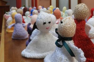 Handmade angels that were released across the Kenilworth area this morning (Saturday December 14)