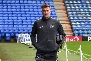 Pompey defender Paul Downing