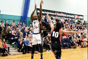 Alex Owumi led Worthing Thunder's scoring with 36 points