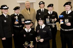Skegness St John Ambulance cadets 10 years ago.