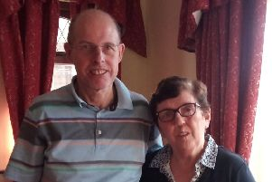 Tommy and Mary Harraghy from Magherafelt who have launched a campaign to clear Mary's name