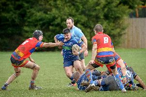 Will Headley with the ball for St Andrews in Saturday's 18-12 victory at John Tomalin Way