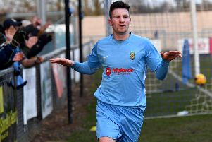 Striker Charlie Evans scored both goals on Saturday, to add to last weekend's hat-trick  Pictures by Martin Pulley