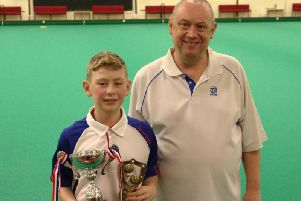 Winner Charlie Beeton with event organiser Darren Wheeler