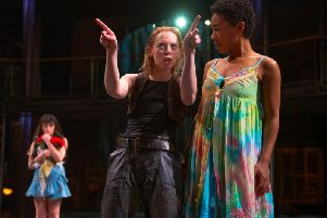Lucy Phelps and Amelia Donkor as Rosalind and Silvia. Picture: Topher McGrillis