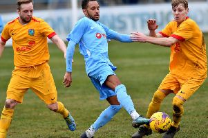 Rugby Town will be without Fazel Koriya for the rest of the season for work reasons   Pictures by Martin Pulley