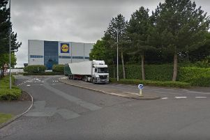 The Lidl warehouse in Lutterworth