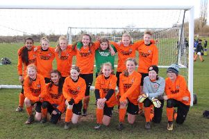 Rugby Town Girls Under 13s are league champions with three games still left to play