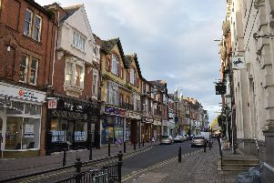 Regent Street in the town centre.