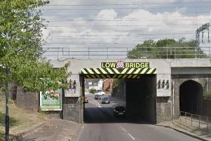The railway bridge on Newbold Road. Photo: Google Streetview.