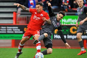 Reece Grego-Cox Crawley Town FC v Lincoln City FC. Pic Steve Robards SR1908124 SUS-190327-104703002
