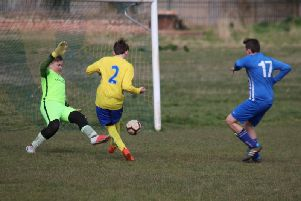 Ryan Prior scores his firstfor the Under 14s against Coventrians