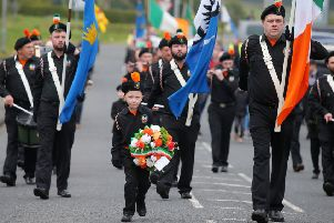 Sunday 7th April 2019''Parade in Rasharkin, Co. Antrim, to commemorate the murder of Republican Gerard Casey who was shot dead at his home in the town in 1989 by loyalist paramilitaries. 'Picture by Jonathan Porter/PressEye