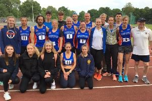 Hastings Athletic Club's squad for the Southern Athletics League match at Tooting