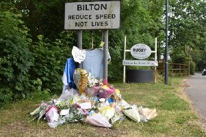 The sign has been decorated with tributes to Daniel.