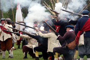 Library picture of a re-enactment of the Battle of Naseby