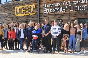 Bobbi with colleagues and supporters at the University of Chichester