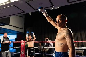 David Birmingham bowed out of boxing in style against Jamie Speight. Picture: Duncan Shepherd