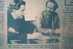 Rugbys MP Bill Price and Lord Kennet in 1969