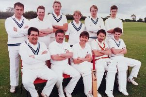 A 1993 team picture of Rowland United CC 1st XI