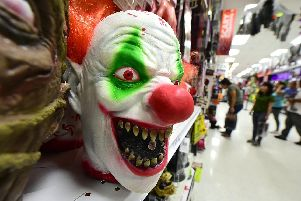 Stock image of a clown mask. Picture: FREDERIC J. BROWN/AFP/Getty Images