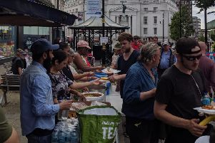Feeding Luton's homeless.