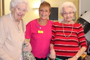 Residents (L-R) Joan Tombes, Denise and Irene Conliffe.