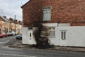 A house was badly scorched after two kerbside mattresses were set on fire last night. Photo credit to Darren Smith.