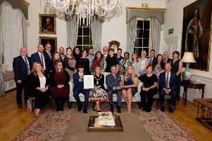 Lord Mayor of Armagh Mealla Campbell hosts Queen's Voluntary Awards to Oasis Youth and Richmount Rural Community to a reception at The Palace Armagh Co.Armagh     3 October 2019    CREDIT: www.LiamMcArdle.com
