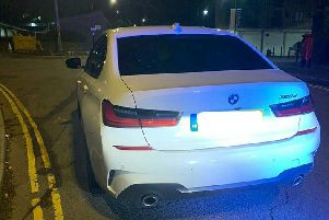 The BMW, pictured, was recovered. Photo: OPU Warwickshire.
