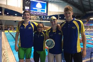 Pictured with the Top Club Trophy are Matthew Rothwell, Kiara Kovacs, Olivia Lee and Myles Robinson-Young.