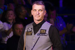 Mark Davis narrowly overcame Jimmy Robertson at the Coral World Grand Prix. Picture courtesy World Snooker